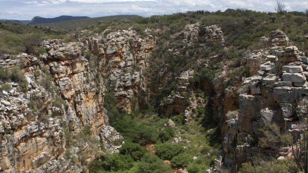 Formações rochosas na Caatinga