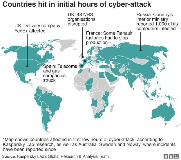Cyber attack: 200000 victims hit in 150 countries