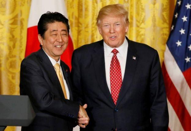 Trump na Abe wazungumza