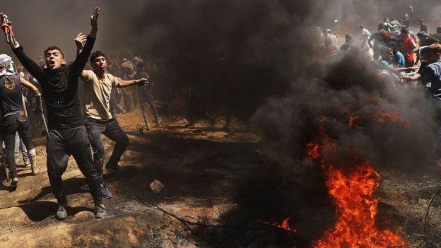 Protests in Gaza.