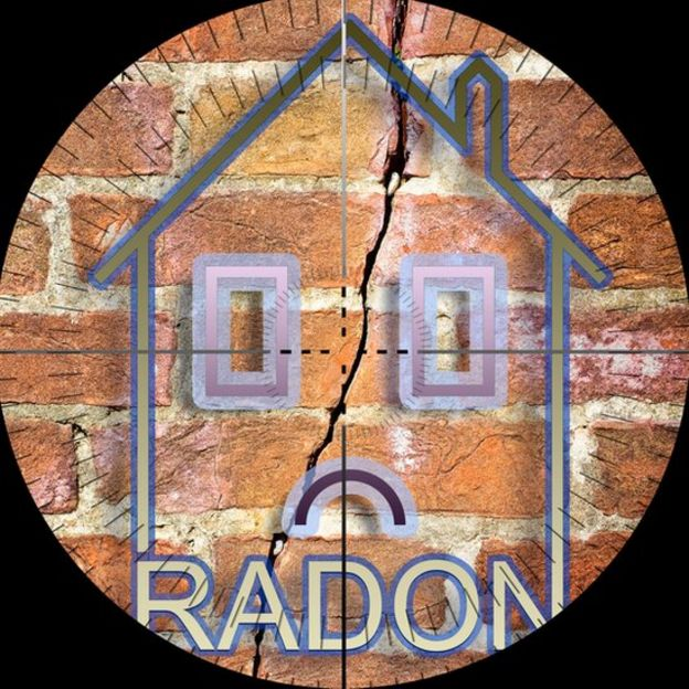 House affected by radon