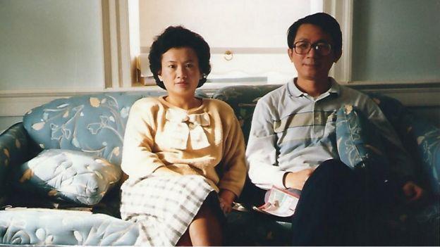 Bà Betty Chang và ông Chang Hsien-yi, năm 1988, tại Hoa Kỳ