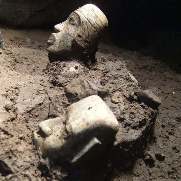 Excavación en Teotihuacán