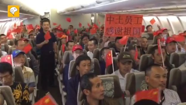 Chinese tourists stuck on a delayed Caribbean flight