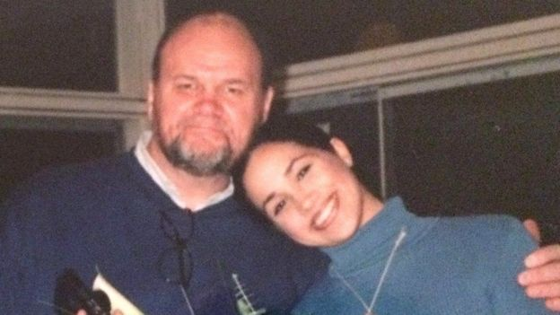 Meghan Markle and her father, Thomas.