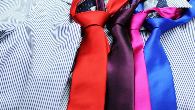 Different coloured ties