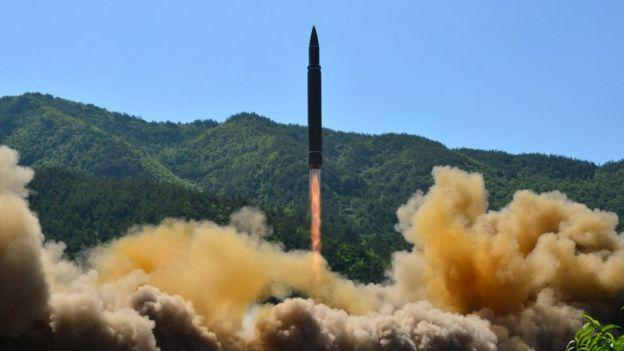 朝鮮試射導彈