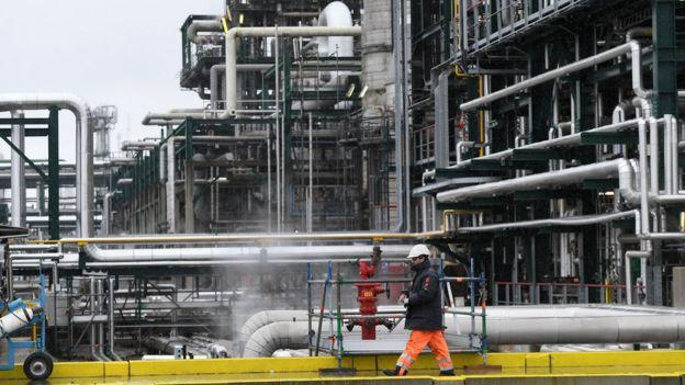 Total refinery in Belgium