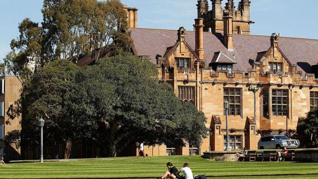 澳洲校園的學生