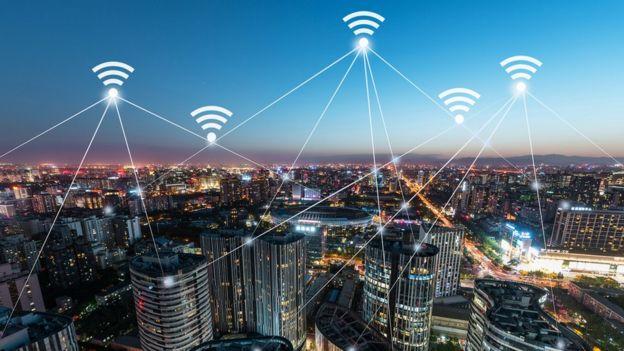 Señal de wifi sobre Beijing
