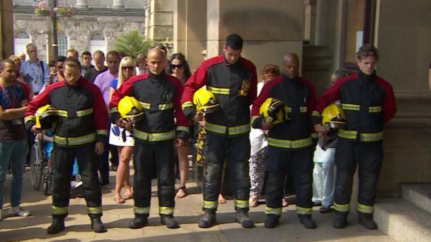 London fire fighters