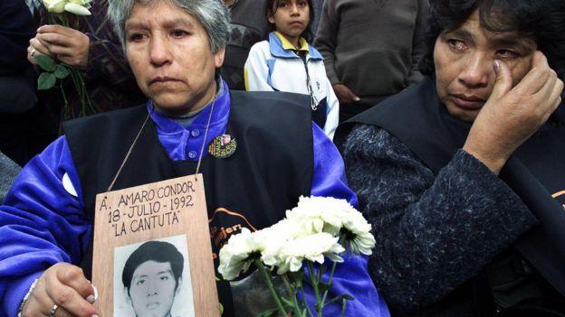Madre de una de las víctimas de la matanza de La Cantuta.