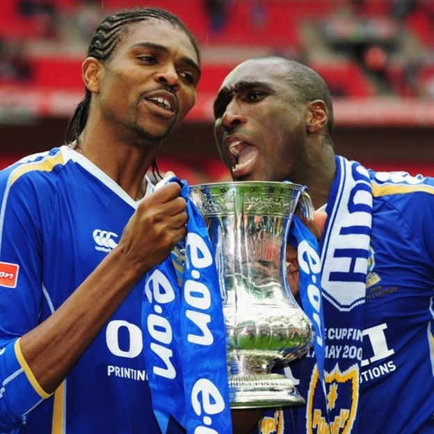 Kanú and Sol Campbell