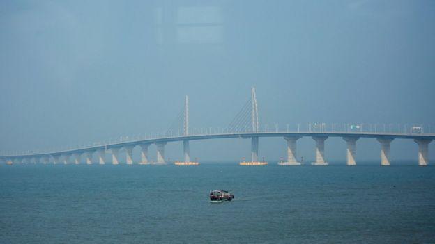 Puente Hong Kong-Zuhai-Macao.