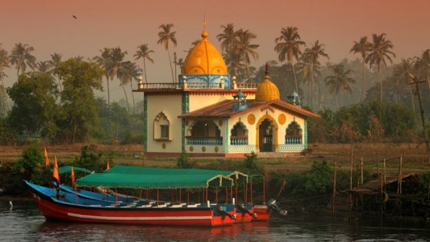 Templo hindú en Goa, India.
