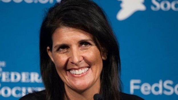美国联合国代表妮基·黑利