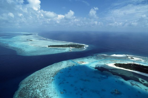 Coral islands in Maldives