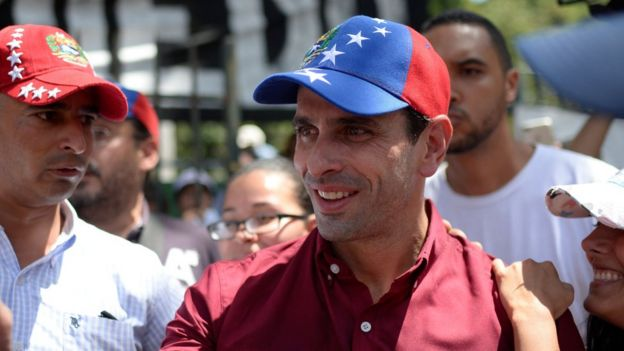 El líder opositor Henrique Capriles le exigió al gobierno que cancela la Asamblea Constituyente
