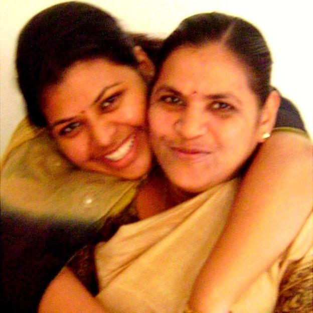 Venkata and her biological mother