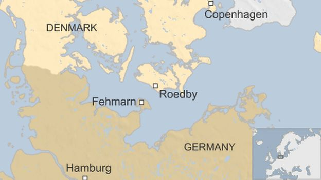 DenmarkGermany Undersea Fehmarn Tunnel Gets Goahead BBC News - Germany uk map