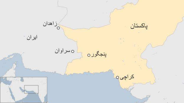 نقشه منطقهای که پهپاد در آن سرنگون شده است