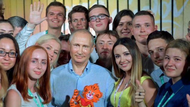 Путин с молодежью в Тавриде