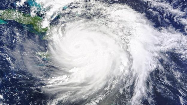Una imagen satelital de un huracán