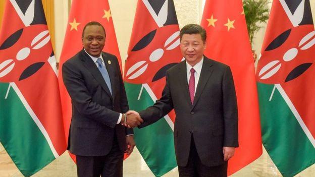 肯尼亚总统肯雅塔与中国国家主席习近平