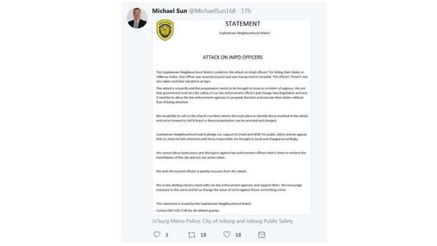 Councillor's statement