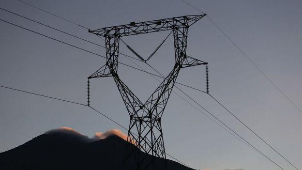 Torre de electricidad en Costa Rica.
