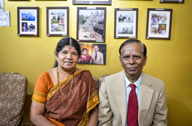 Regret Iyer with his wife