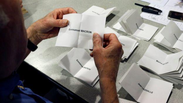 Una boleta de votación