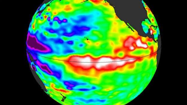 Imagem de satélite do El Niño