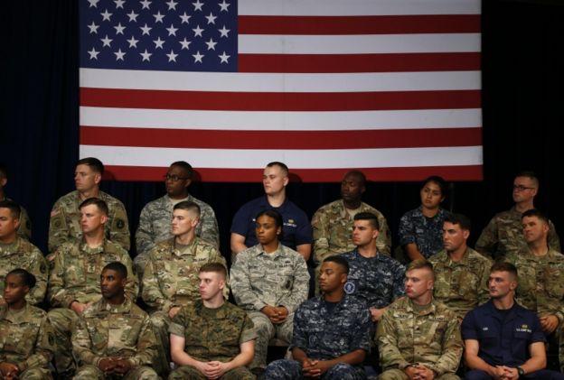 El discurso fue visto en directo por militares de Estados Unidos.