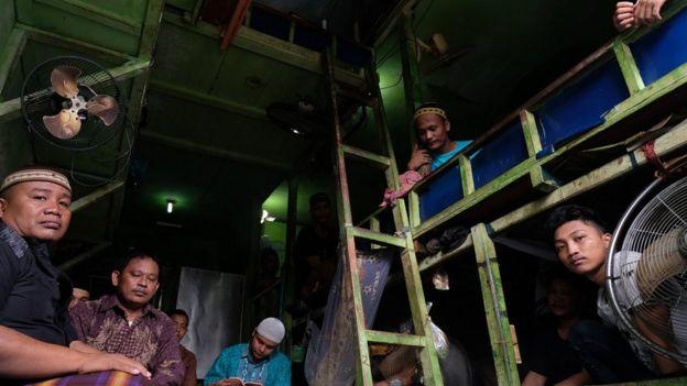 Suasana dalam salah satu sel di Rutan Bagansiapiapi
