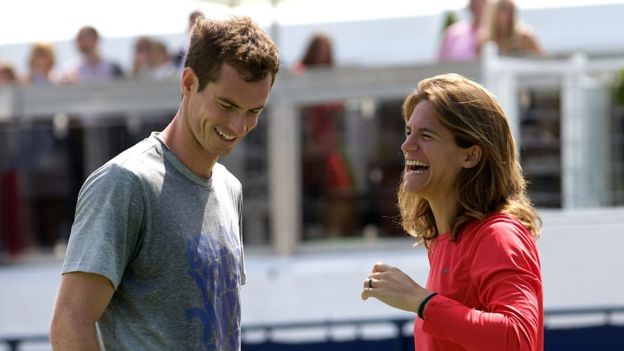 Andy Murray and coach Amelie Mauresmo