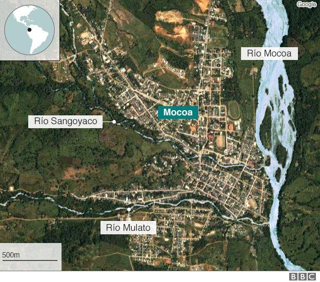 Vista aérea de Mocoa