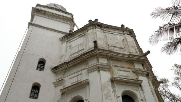Fachada del observatorio.