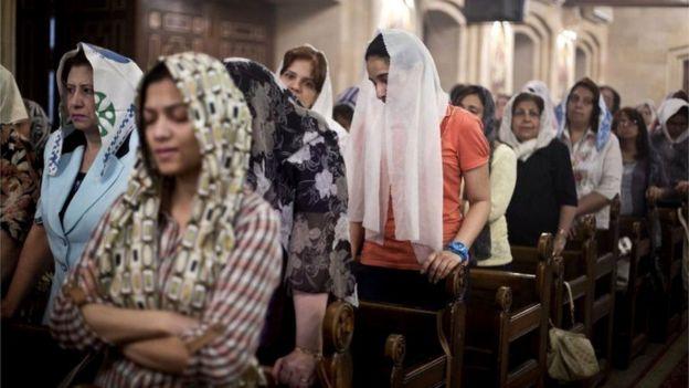 Cristãos coptas em Cairo (foto de arquivo)