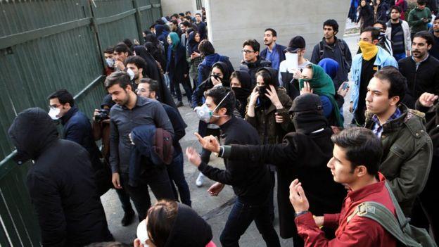 Tahran'daki gösteriler