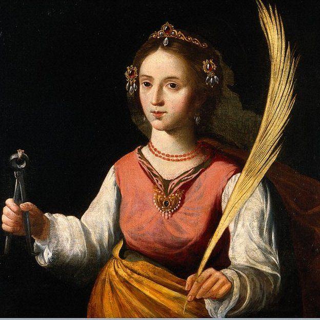 Quadro retratando Santa Apolônia