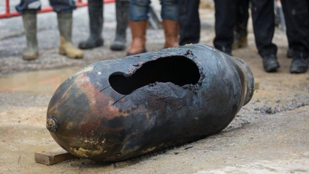 A wartime bomb in Hong Kong