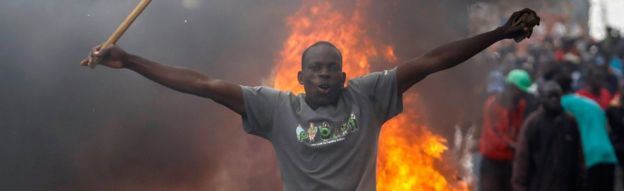 Protester in Kibera