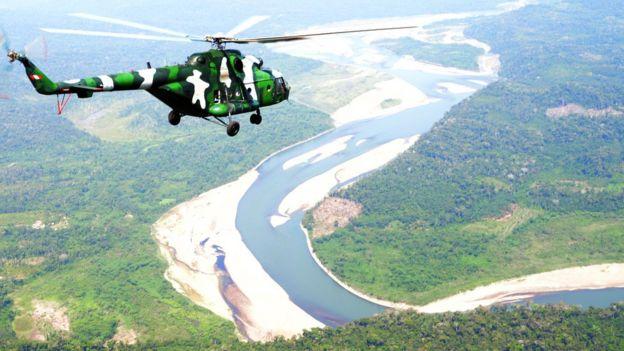 Helicóptero patrulha