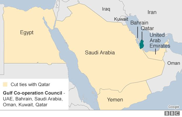 Map of Gulf region