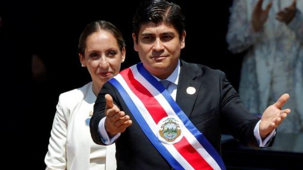 Presidente de Costa Rica Carlos Alvarado