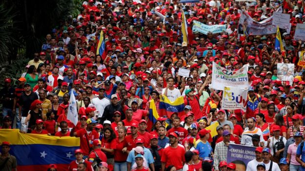 Maduro supporters. Photo: 19 April 2017