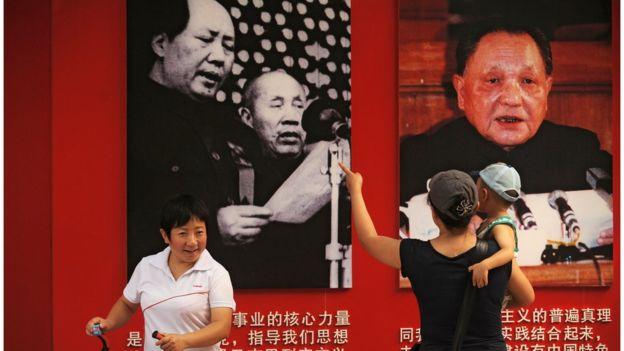 毛澤東和鄧小平宣傳板