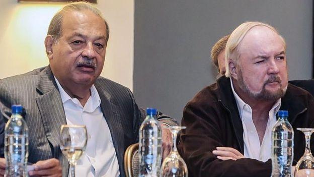 Carlos Slim y Carlos Pellas