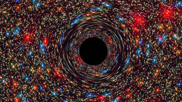 Simulación por computadora. Foto: NASA, ESA, D. Coe, J. Anderson, y R. van der Marel (STScI)